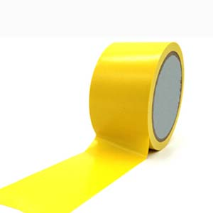 安赛瑞 耐磨型划线胶带,高性能自粘性PP表面覆超强保护膜,75mm×22m,黄色,15626