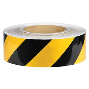 安赛瑞 耐磨型划线胶带,高性能自粘性PVC表面覆超强保护膜,黄/黑,50mm×22m,15650