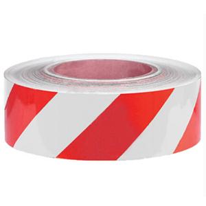 安赛瑞 耐磨型划线胶带(红/白)-高性能自粘性PVC材料,表面覆超强保护膜,红/白,50mm×22m