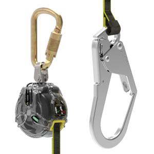 MSA 迷你型速差自控器,1.8m织带,铝合金大钩,带连接锁,63011-00A