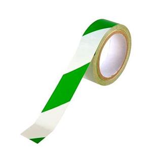 乐同 警示胶带,绿白,60mm*22m