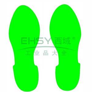 5S管理地贴(脚印)-超强耐磨地贴材料,绿色,280×100mm,1对/包,15816