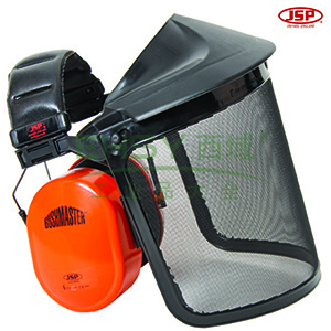 JSP 02-3500 EF金属网面屏耳罩组合(头戴式金属网面屏灰色支架组合及SNR:30db耳罩)