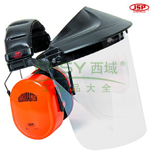 JSP 02-3600 EF金属网面屏耳罩组合(头戴式PC透明面屏灰色支架组合及SNR:30db耳罩)