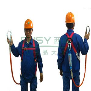 奎楼 全身式单挂点安全带套装,单头大钩,GZ-Y(Q-D)全身式单大钩