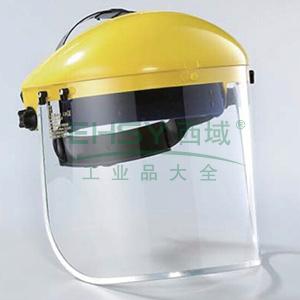 蓝鹰B1YE+FC48 头盔式防护面屏套装(黄)