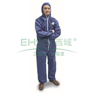 雷克兰 PPP428BE-L 聚服佳蓝色防化服,40件/箱