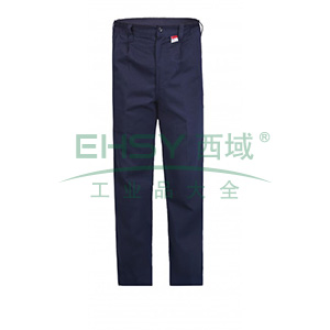 雷克兰 HRC2 级8.9 Cal/cm2 防电弧裤子,XXL,深蓝(DH经济面料)