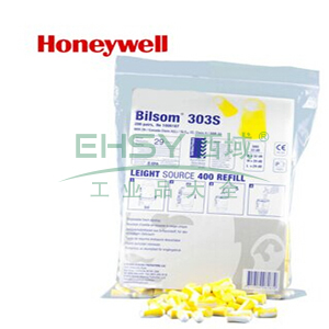 霍尼韦尔1006187 Bilsom303 黄/白双色子弹型耳塞填充包,200副/包,用于LS-400 分配器