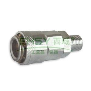 """JPE单插式外牙插座,外牙PT1/2"""",碳钢,AFE-24YSM-R"""