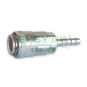 "JPE单插式胶管插座,适用1/4""胶管,碳钢,AFE-21YSH"
