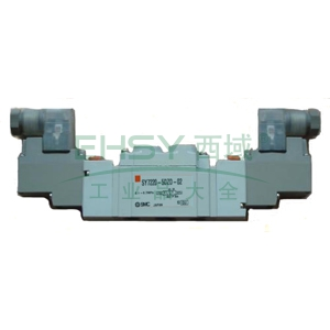 smc电磁阀,两位五通双电控,din插座式(带插头),dc24v,sy5220-5dd-01