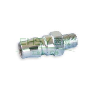 "JPE外螺纹插头,外牙PT1/4"",不锈钢304,AS4-22PM-R"