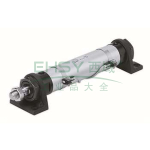 SMC圆型液压缸,轴向脚座型,CHML25-75