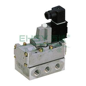 喜开理CKD 电磁阀,2位5通单电控,Rc 1/4,4F410-08-AC110V