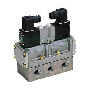 喜开理CKD 电磁阀,2位5通双电控,Rc 1/2,4F520-15-AC220V