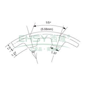 三星梯形齿同步带,橡胶材质,1英寸宽,80XL100