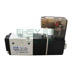 欧雷凯电磁阀,2位3通,常闭型,3V110-06-AC220V-NC