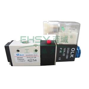 欧雷凯电磁阀,2位3通,PT1/4,常闭型,3V210-08-AC220V-NC