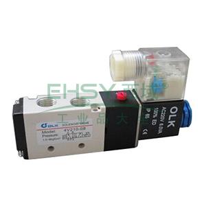 欧雷凯电磁阀,2位5通单电控,4V210-08-DC24V