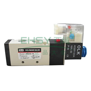 欧雷凯电磁阀,2位5通单电控,4V310-10-AC220V