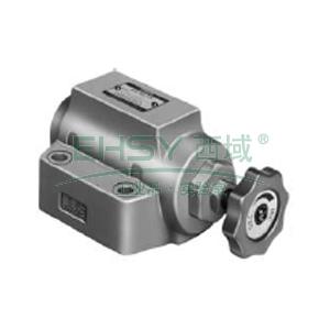 油研单向节流阀,额定流量85L/min,板式连接,SRCG-06-50