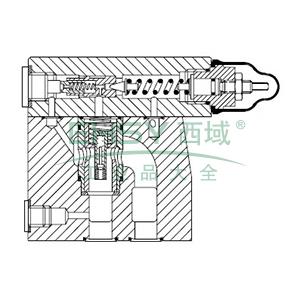 伊顿威格士EatonVickers 先导式减压阀,板式,XG2V6FW10