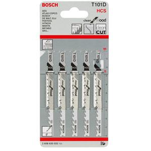 博世曲线锯锯条,快速去屑型(工具钢)T101D (5) 5条/包,2608630032