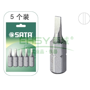 世达一字螺丝刀头,5件套6.3mm系列长25mm 3mm, 59211