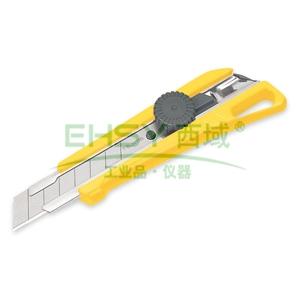田岛美工刀,中型(2片备刀) 18mm x 100mm 旋钮锁定, LC521B