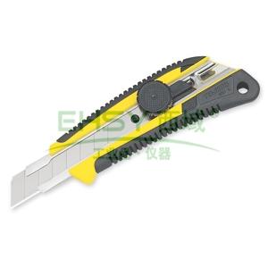 田岛美工刀,双色手柄 中型18mm x 100mm 自动锁定, LC561B