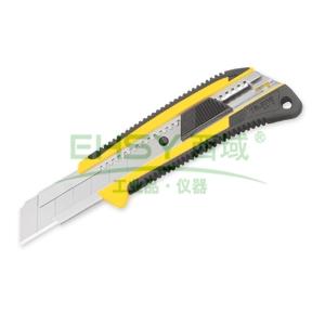 田岛美工刀,双色手柄 超重型 25mm x 126mm 自动锁定, LC660B