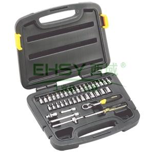 史丹利套筒套装,38件套6.3mm系列公制组套,94-184-22