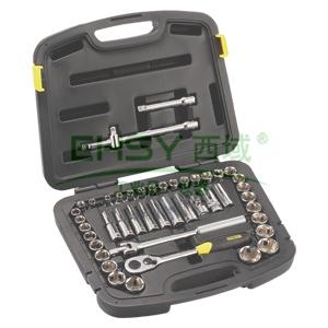 史丹利套筒套装,46件套12.5mm系列公英制组套,94-187-22