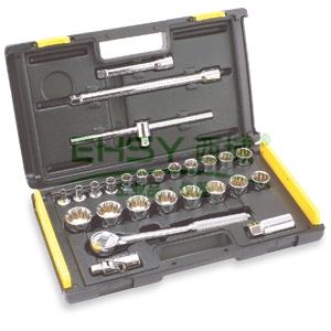 史丹利十二角套筒套装,12.5mm系列25件套,86-478-22