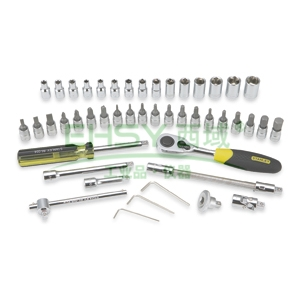 史丹利套筒套装,6.3mm系列公制46件套,91-934-22