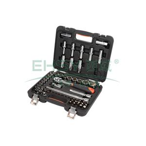 工具套装,58件套12.5MM系列公制组套,S010058