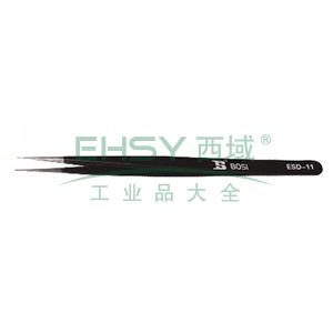 防静电特尖头长镊子,140×7×2mm,BS459031
