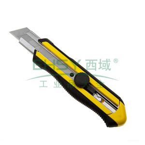 史丹利 DYNAGRIP旋钮双色柄美工刀25mm,STHT10425-8-23