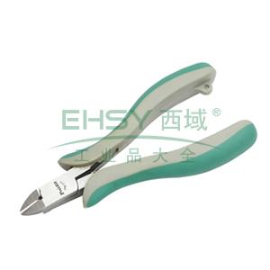 宝工 Pro'skit 绿灰双色精密斜口钳,120mm 铜线 Ø2.0mm,PM-711