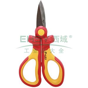 宝工 绝缘电工剪刀,160mm,SR-V336