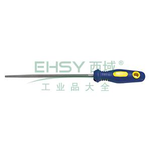 长城精工 塑柄中齿圆锉,200mm,413731