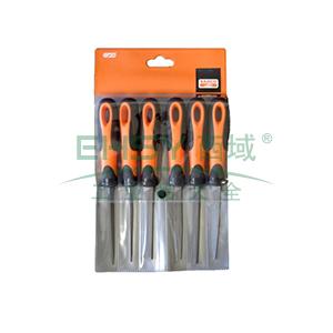 百固BAHCO锉刀组套,6支4寸细齿,1-476-04-3-2,1 套