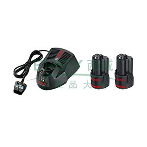 博世电池套装,2电1充套装12V/2.0Ah,1600A00F6H