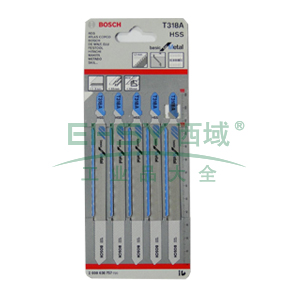 博世曲线锯条,经济效益型(高速钢)T318A 5条/包,2608638757