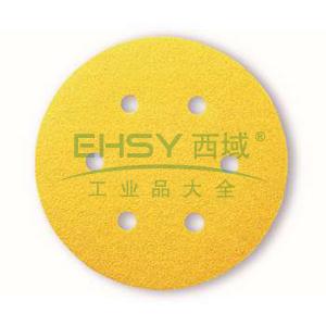 博世砂碟,背绒圆形 150mm 100目-6孔,2608608V37