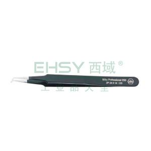 威汉防静电表面贴装镊子,弯头 长120mm,32338
