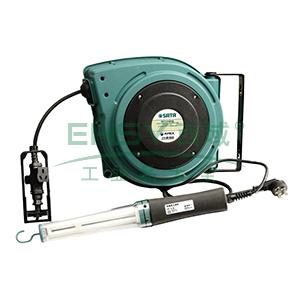 世达三芯绕线盘,1.5mm² 15米三芯线, 带磁性工作灯,98024