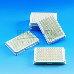 Nunc F96 MicroWellTM微孔板,聚苯乙烯,外部尺寸128*86mm,颜色,黑色,数量每包/每箱,10/160,表面,细胞培养