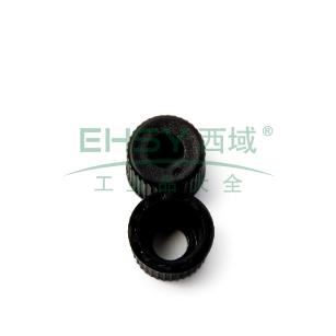 黑色 瓶盖  聚四氟乙烯/硅树脂 蓝色 (带狭缝) 隔垫